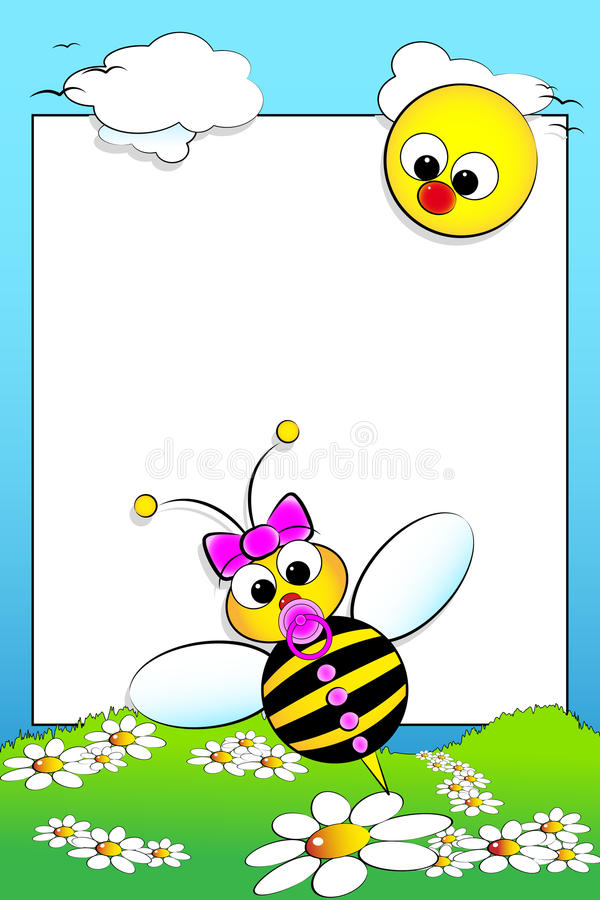 Kid Scrapbook With Blank Frame Message Royalty Free Stock Photos