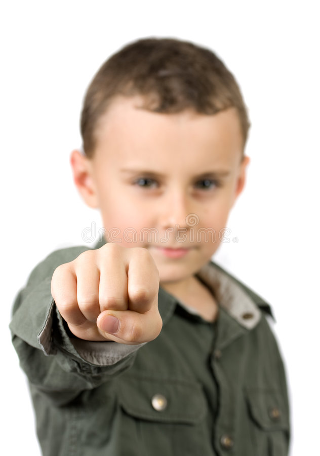 Download Kid showing his fist stock image. Image of cute, aggressive - 7402289