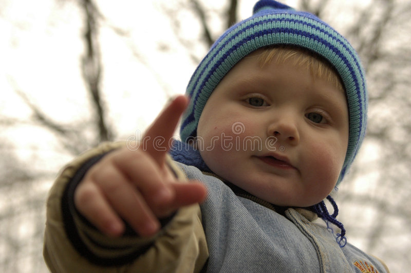 A Kid Shows Stock Photography