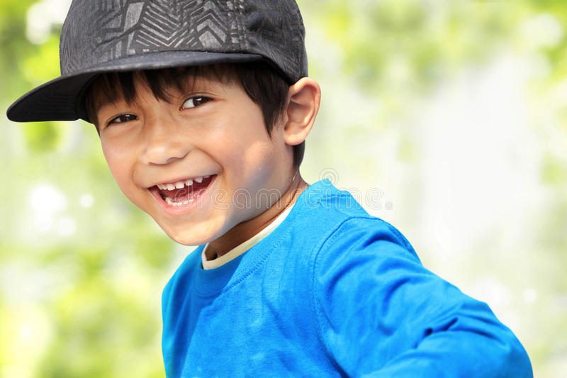Download Kid smiling to the camera stock image. Image of good - 25856387