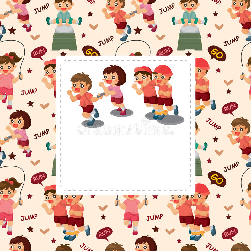 Download Kid sport seamless pattern stock vector. Image of cute - 23113444
