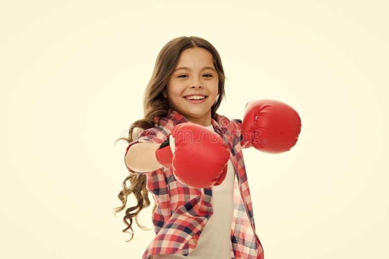 Kid starkes und unabhängiges Mädchen Fühlen Sie sich stark und unabhängig Mädchenmachtkonzept Stärkung des Vertrauens und der Stä stockfotos