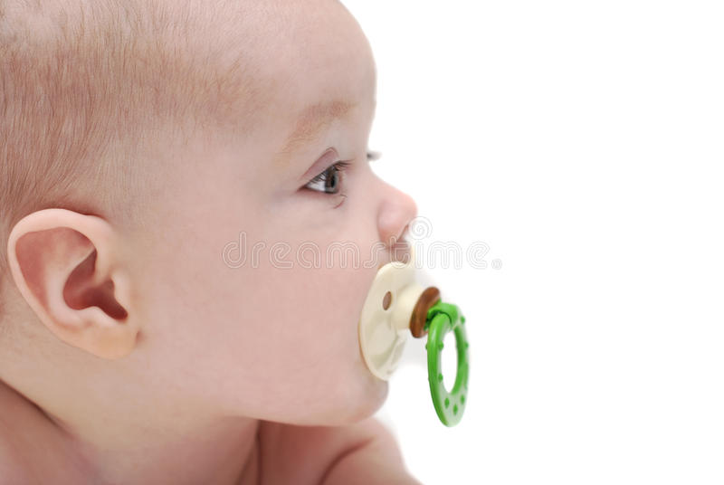 Download The kid sucks a dummy stock image. Image of portrait - 17003291