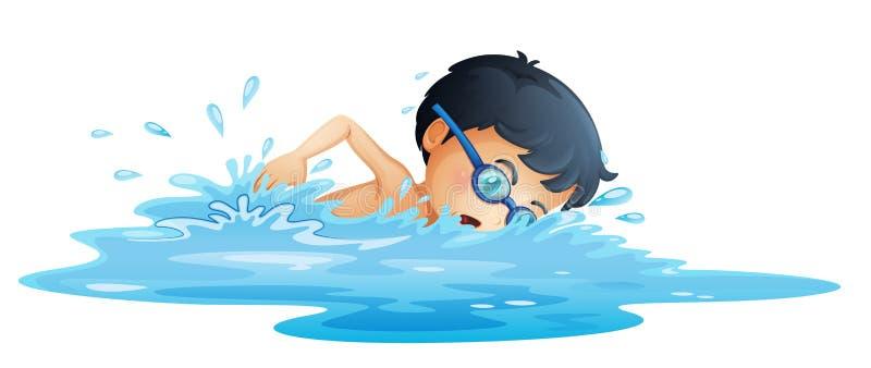 A kid swimming stock illustration