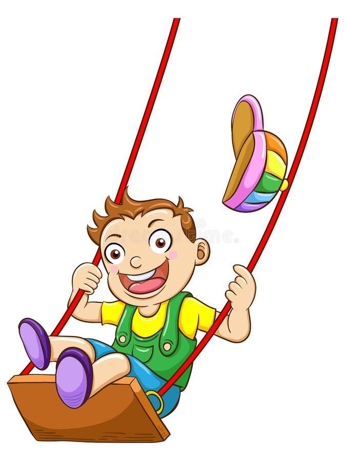 Kid On A Swing Stock Photos