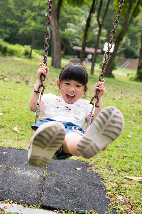 Download Kid on swing stock photo. Image of girl, child, swing - 30479816