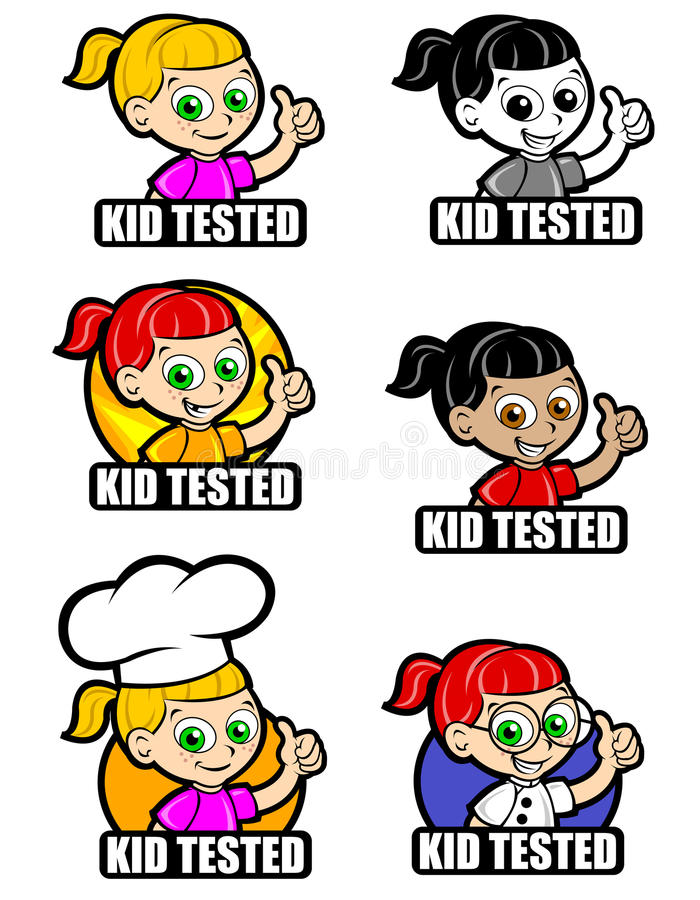 Kid Tested Icon Version Girl Royalty Free Stock Photography
