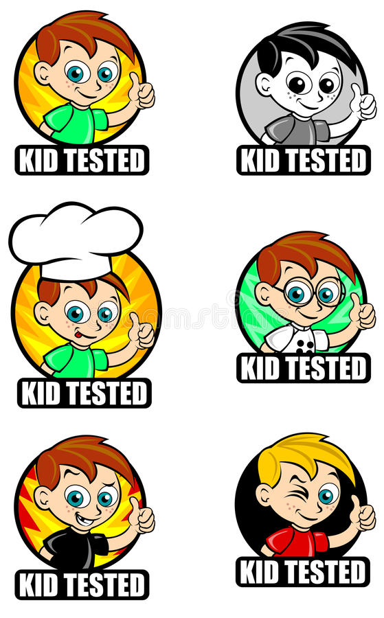 Download Kid Tested Seal / Mark stock vector. Image of approved - 16542843
