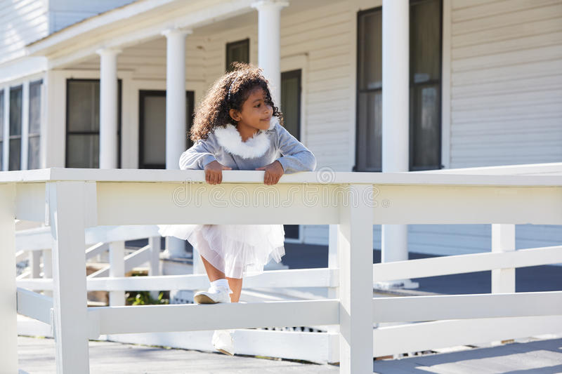 Download Kid Toddler Girl Playing Climbing A Fence Outdoor Stock Image    Image Of Latin,