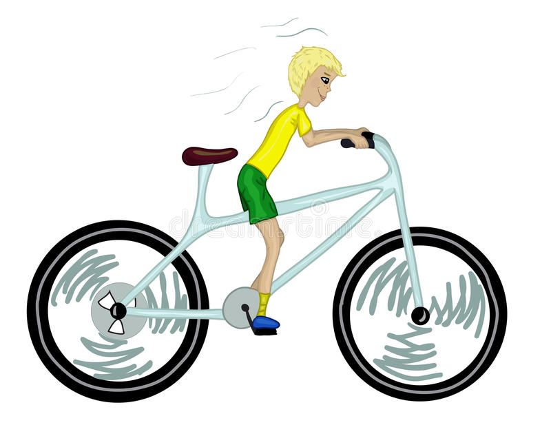 Download Kid With Too Big Bicycle. Stock Image - Image: 25138781