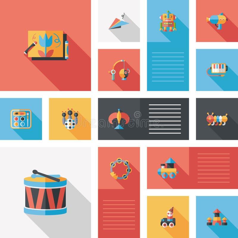 Kid toys flat app ui background,eps10. Vector illustration file stock illustration
