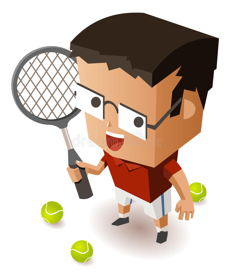 Download Kid training Tennis stock vector. Image of match, champion - 30312144