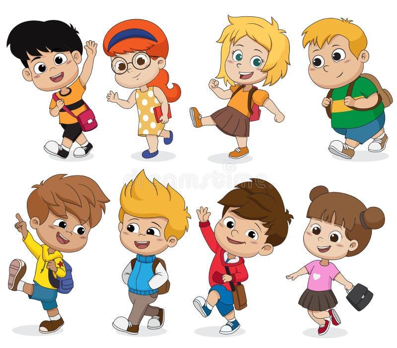 Kid walking to school.back to school.Vector and illustration. Kid walking to schoolVector and illustration vector illustration