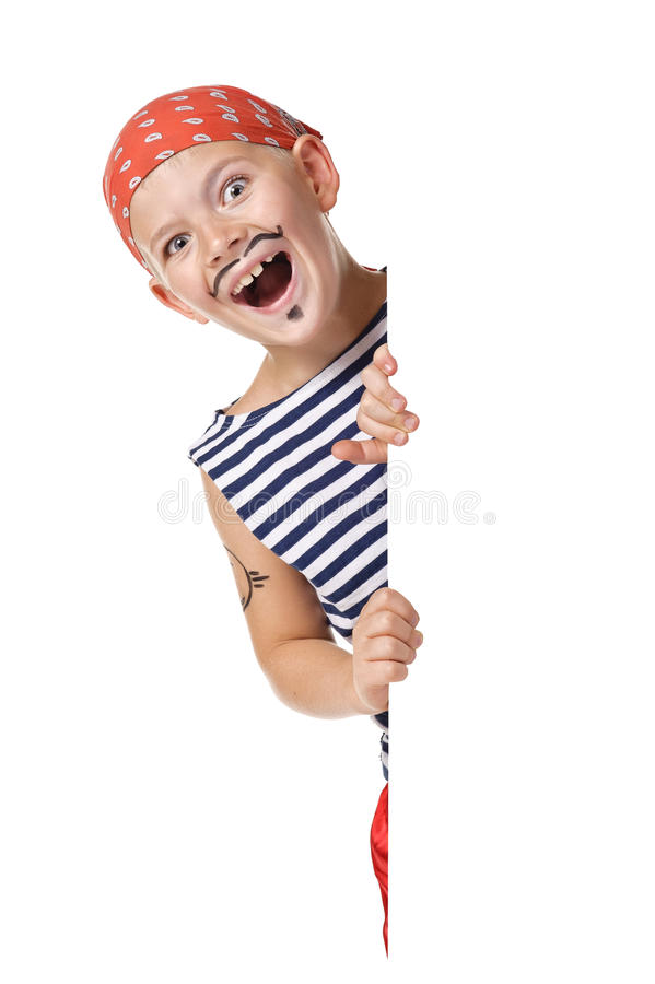 Download Kid Wearing In Pirate Costume Stock Image - Image of gesture, criminal: 21655805