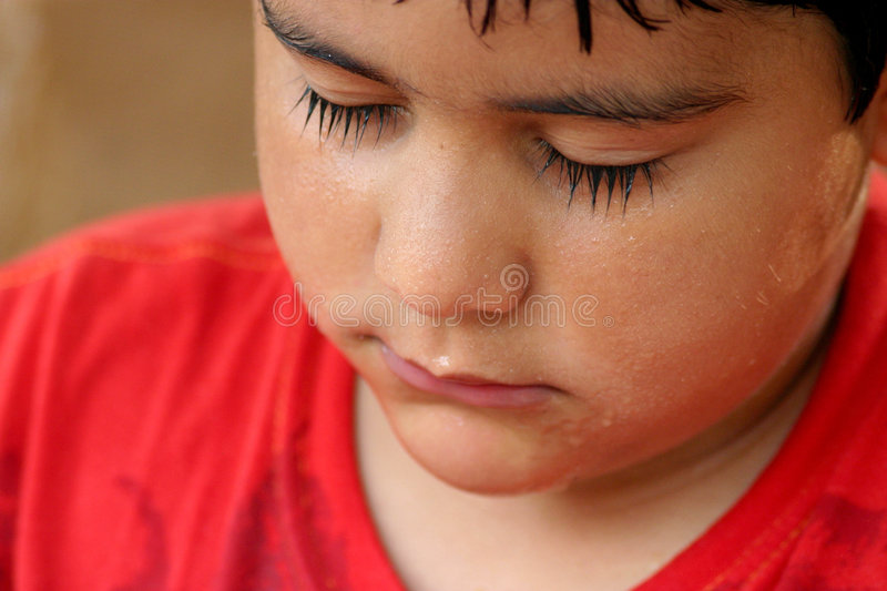 Download Kid with wet face stock image. Image of eyes, infant, peaceful - 517547