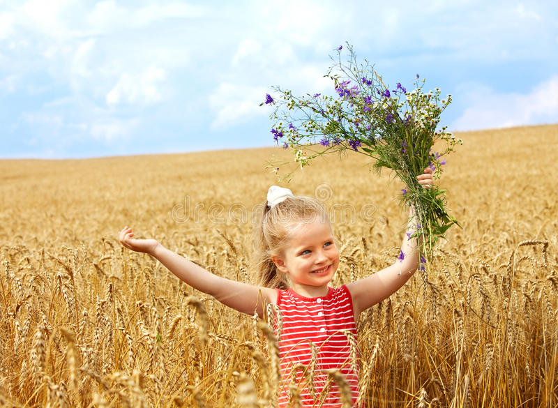 Download Kid In Wheat Field. Stock Images - Image: 20752864