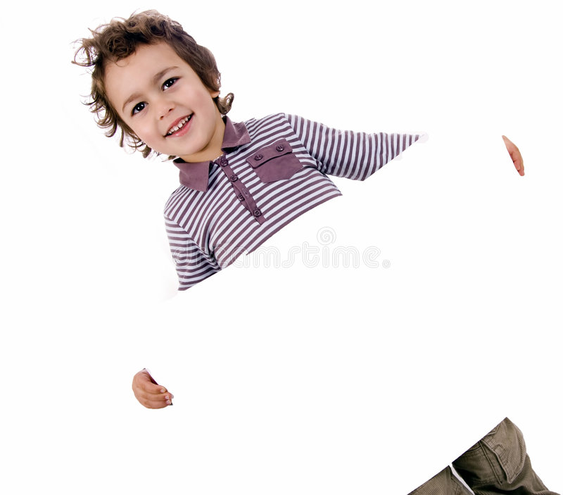 Kid with white sheet royalty free stock images