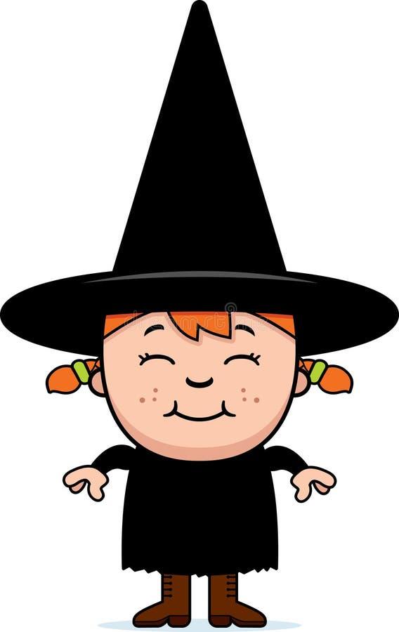 Kid Witch Stock Photo