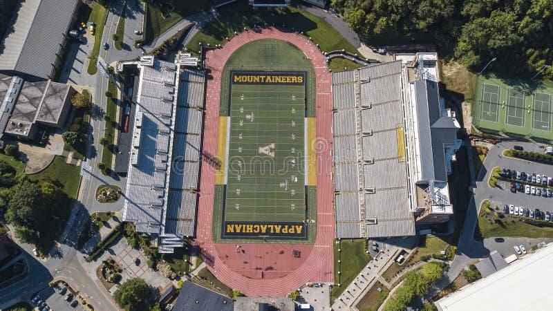 Kidd根据阿巴拉契亚人的酿酒者体育场鸟瞰图  库存图片