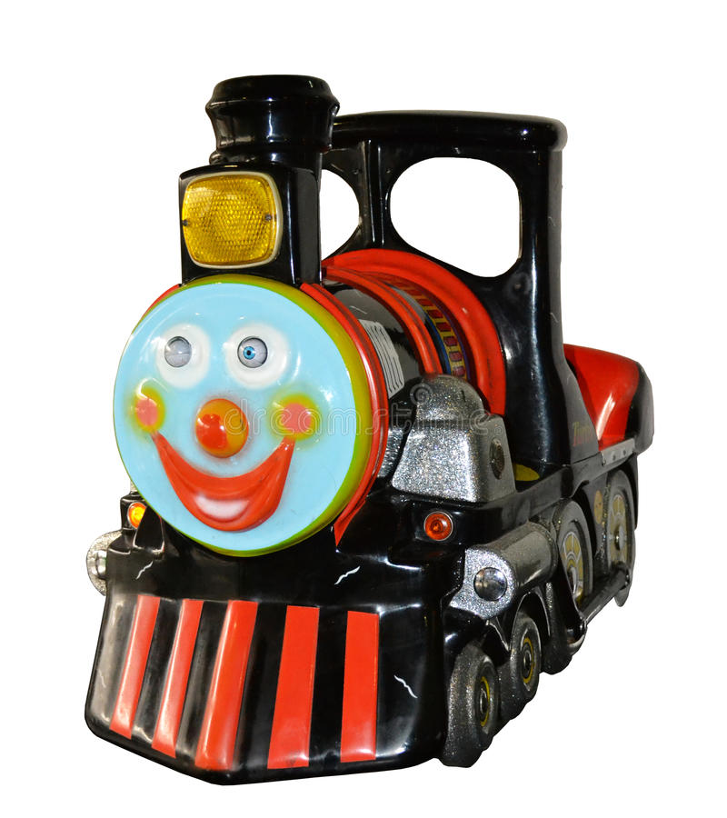Kiddie Locomotive Ride. Vintage kiddie train ride, coin operated. Some kiddie rides from the 1940's and 1950's are still in operation today stock photography