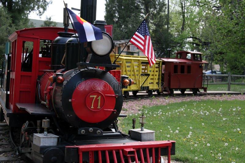 Kiddie train stock photo