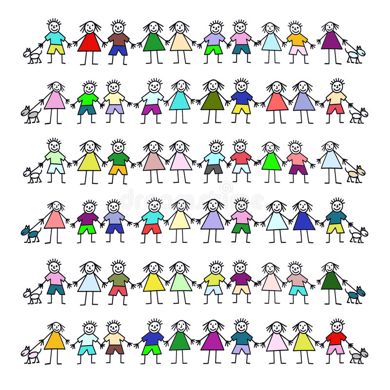 Free Kiddies With Dogs Royalty Free Stock Image - 3839976