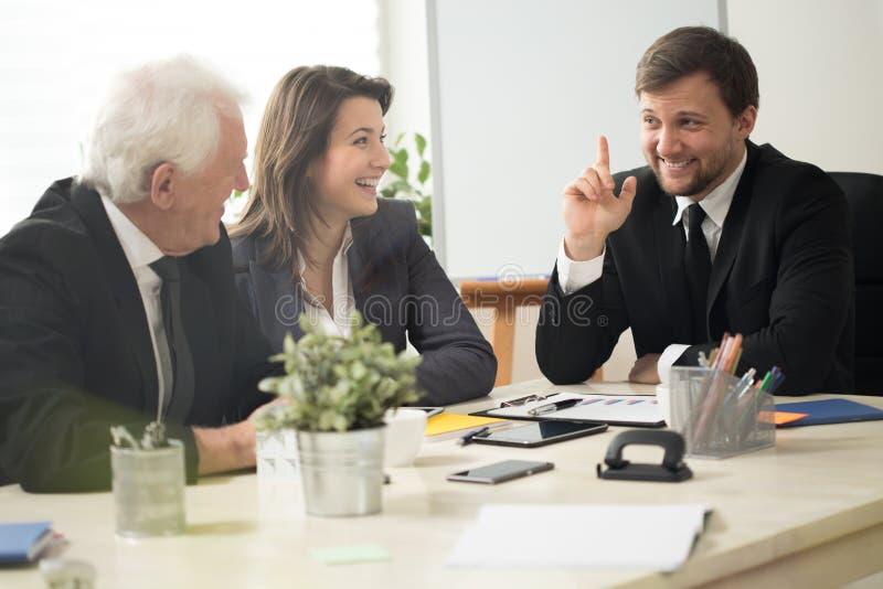 Kidding businessman stock image
