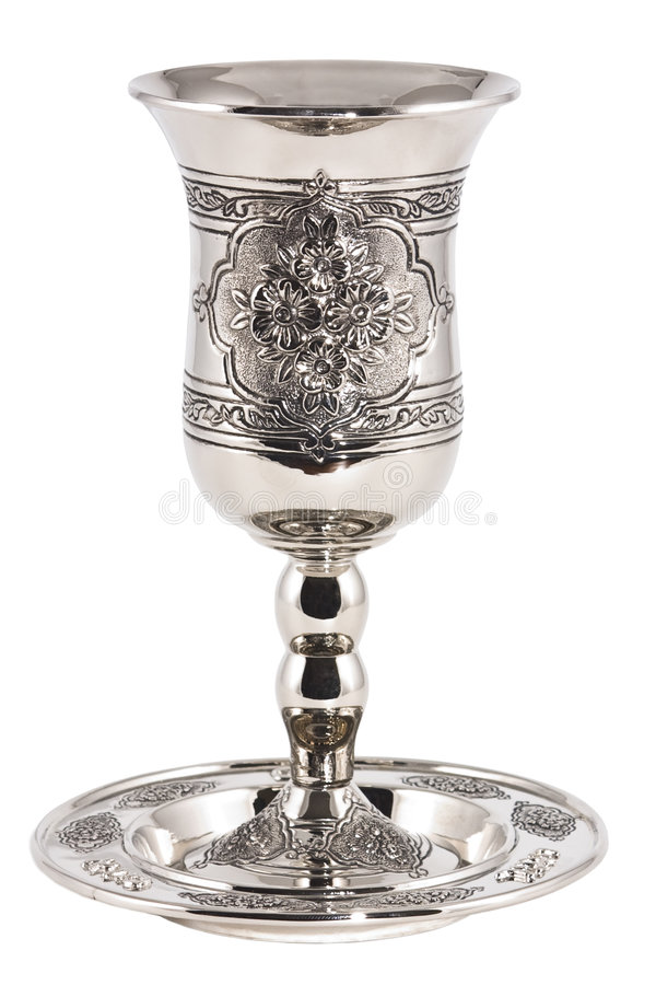 Kiddish Cup With Wine Royalty Free Stock Images