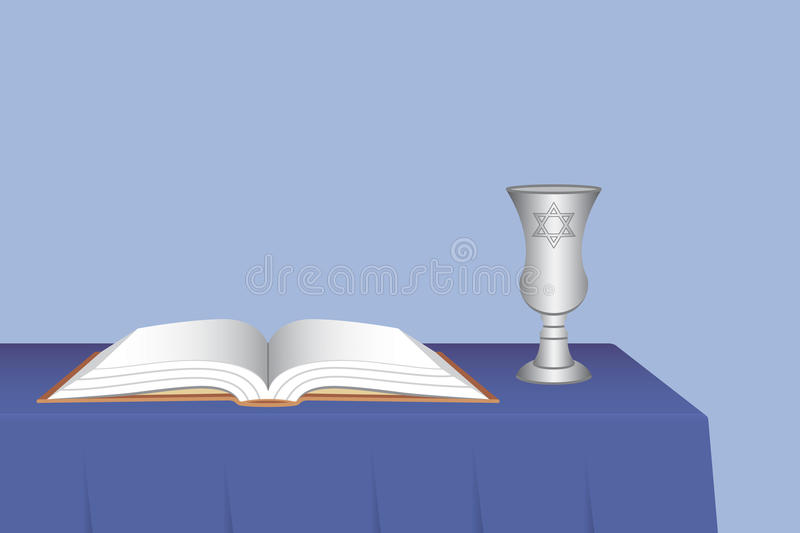 Download Kiddush Cup With Open Prayer Book Stock Vector - Image: 16069686