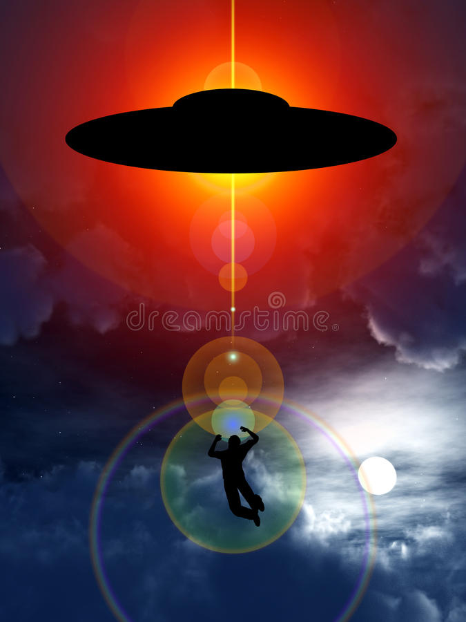 kidnappningufo royaltyfri illustrationer