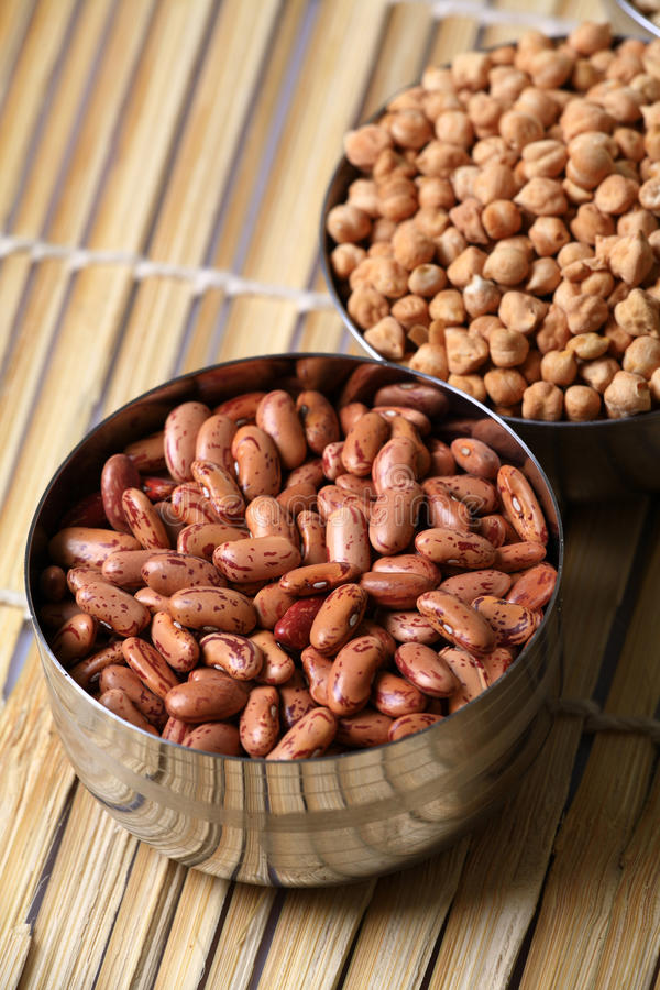Kidney Beans And Grams Royalty Free Stock Images