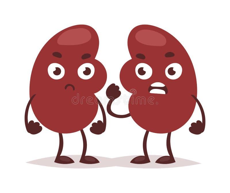 Kidney infection vector illustration. vector illustration