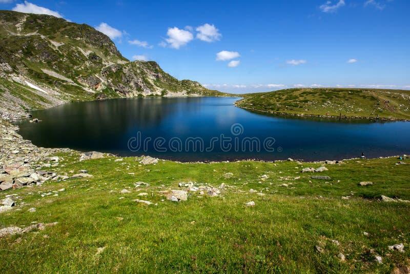 The Kidney Lake, The Seven Rila Lakes, Rila Mountain. Bulgaria stock photo