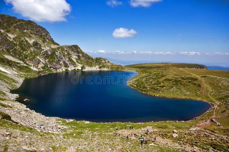The Kidney Lake, The Seven Rila Lakes, Rila Mountain. Bulgaria stock photography