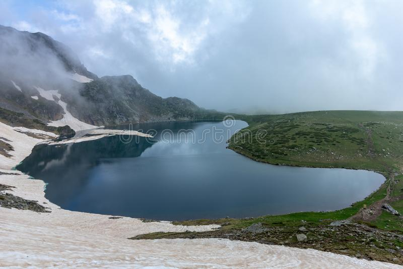 The Kidney one of the Seven Rila Lakes in Bulgaria royalty free stock photo