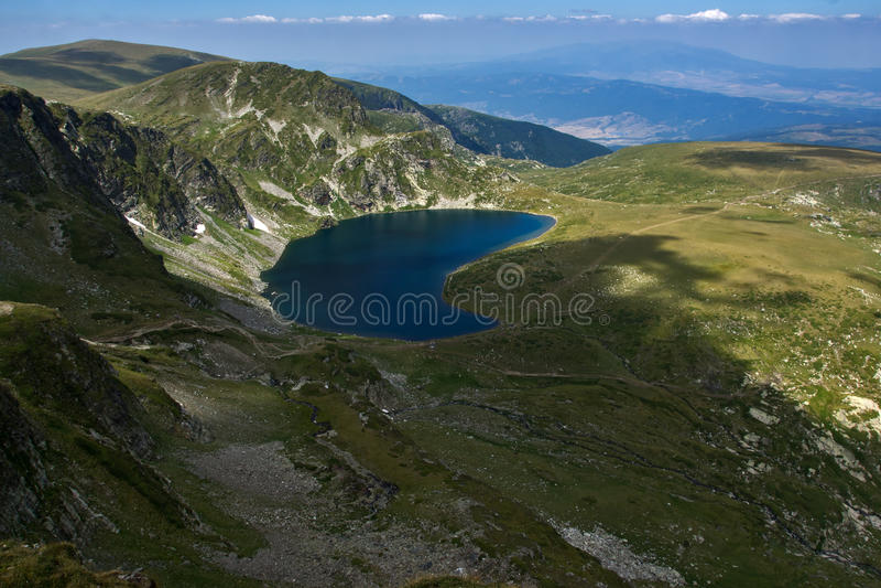 The Kidney, The Seven Rila Lakes, Rila Mountain. Bulgaria stock photography