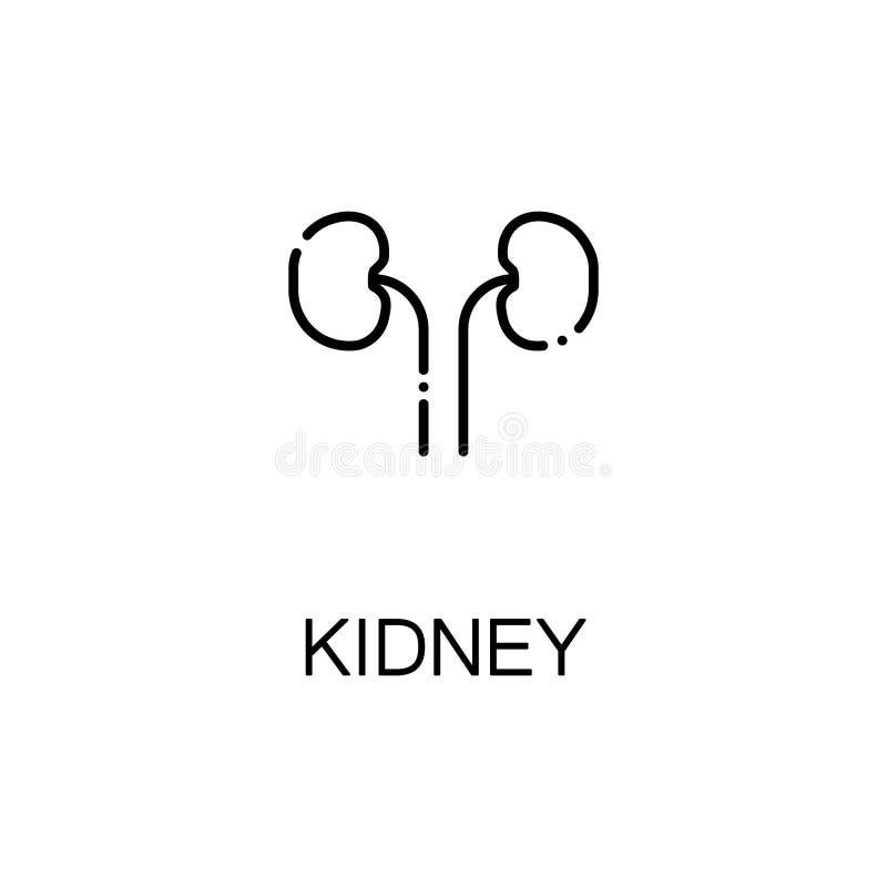 Kidneyflatpictogram of embleem voor Webontwerp vector illustratie