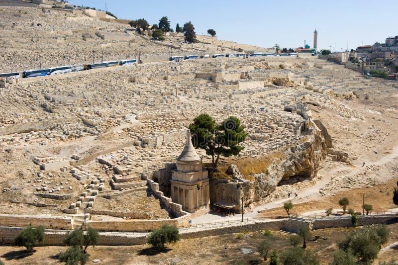 Kidron dolina w Jerozolima obraz stock