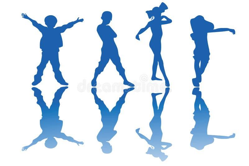 Download Kids stock vector. Image of design, people, kinder, moving - 13368897