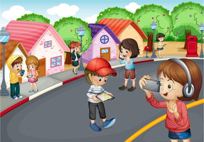 Download Kids stock illustration. Image of post, cartoon, mailbox - 25266179