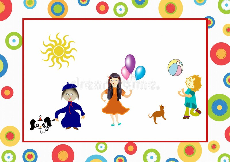 Download Kids stock illustration. Image of action, person, cute - 7636153