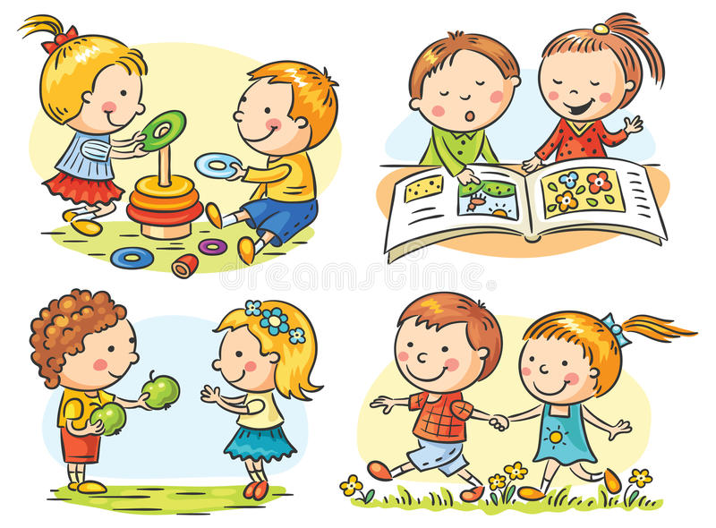 Kids' Activities Set royalty free illustration