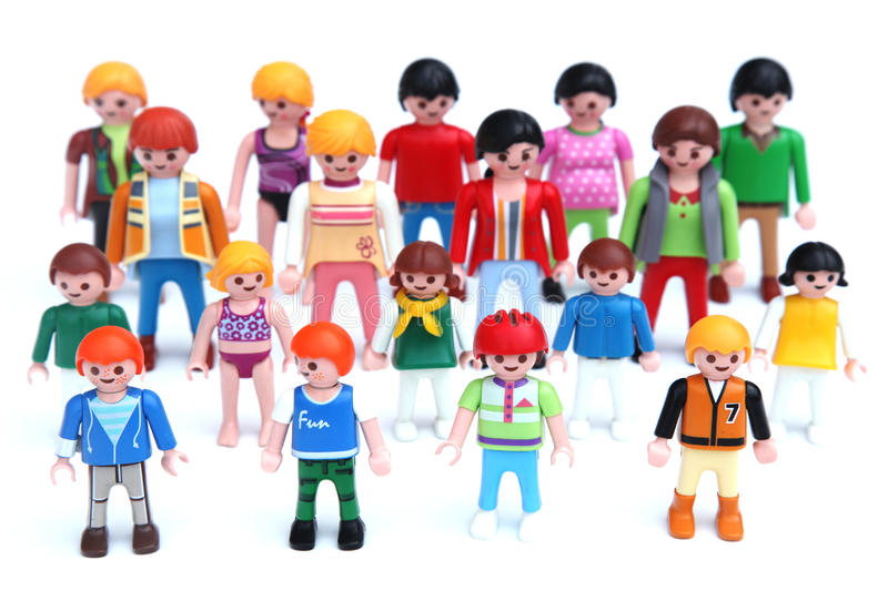 Kids and adults editorial stock image image of parent for Playmobil segunda mano