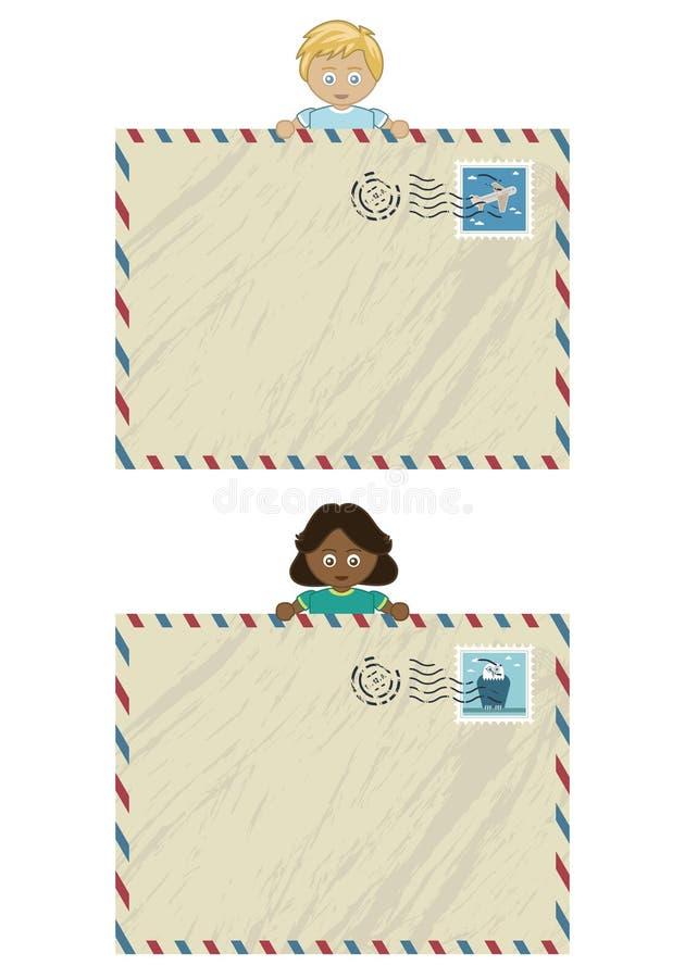 Kids Airmail Stock Image