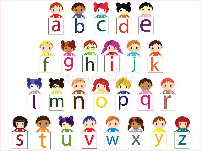Kids alphabet vector illustration