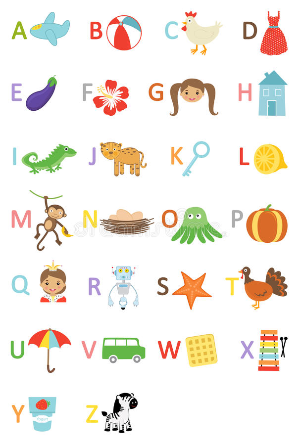 Download Kids alphabet stock vector. Illustration of cute, queen - 25054095