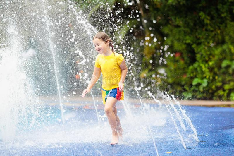 Kids at aqua park. Child in swimming pool. royalty free stock image