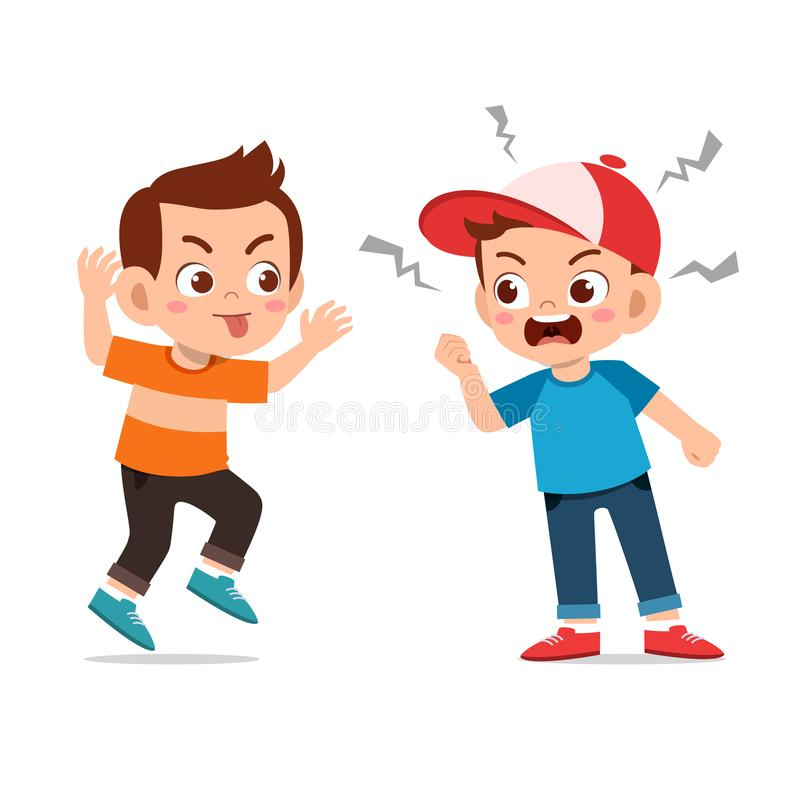 Kids argue fight with friend royalty free illustration
