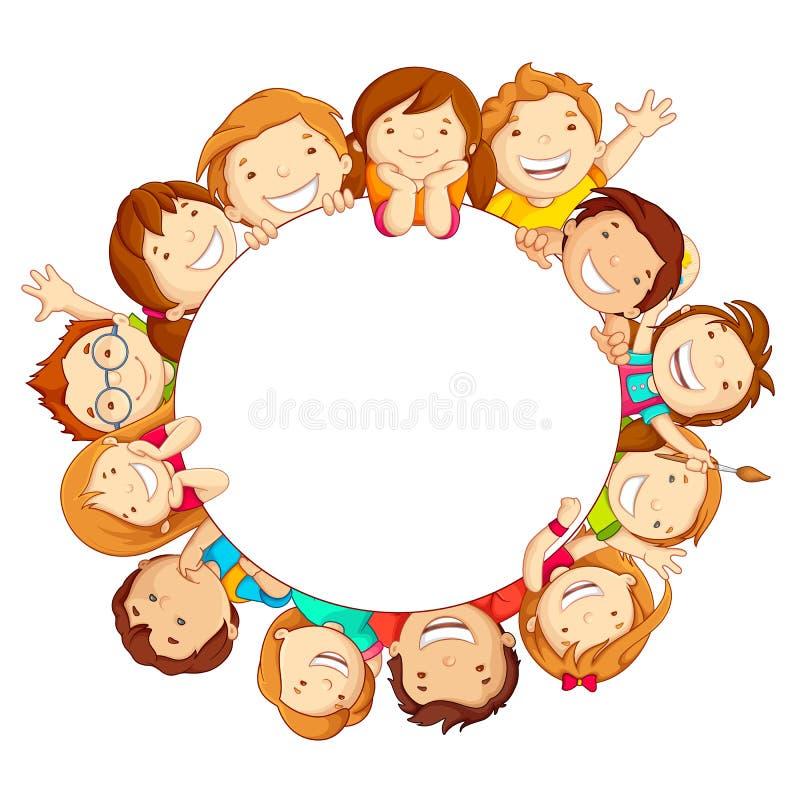 Kids around Circle royalty free illustration
