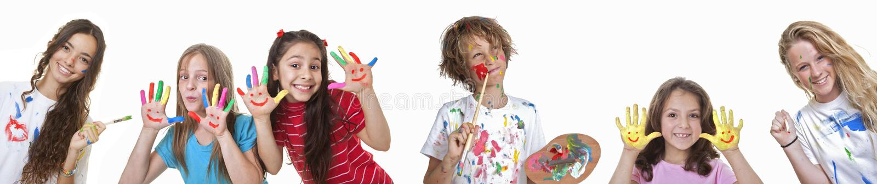Kids art classes royalty free stock photos